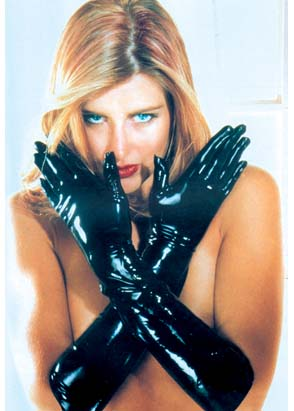 Gants longs en latex noir
