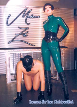 Lesson for her Rubberslut - Madame Zoé femélise un soumis bisex
