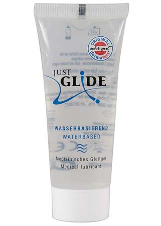 Lubrifiant médical à base d'eau Just glide Mini Tube 20 ml