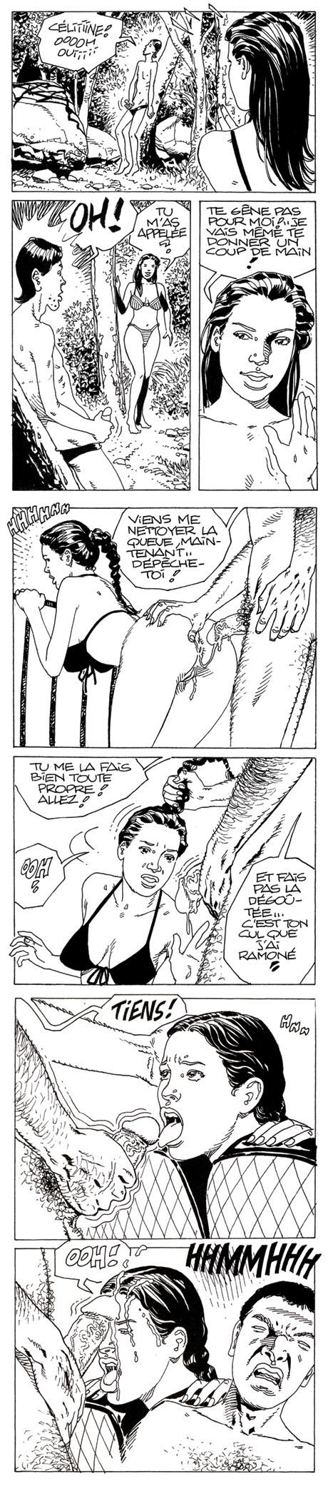 Bande dessinée de milf aimant