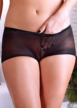 Shorty en voile noir transparent Einmal – Lot de 2