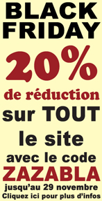 BLACK FRIDAY Super reduction sur tous nos articles