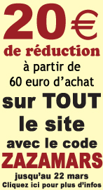 20 euro de reduction immediate sur TOUT le site